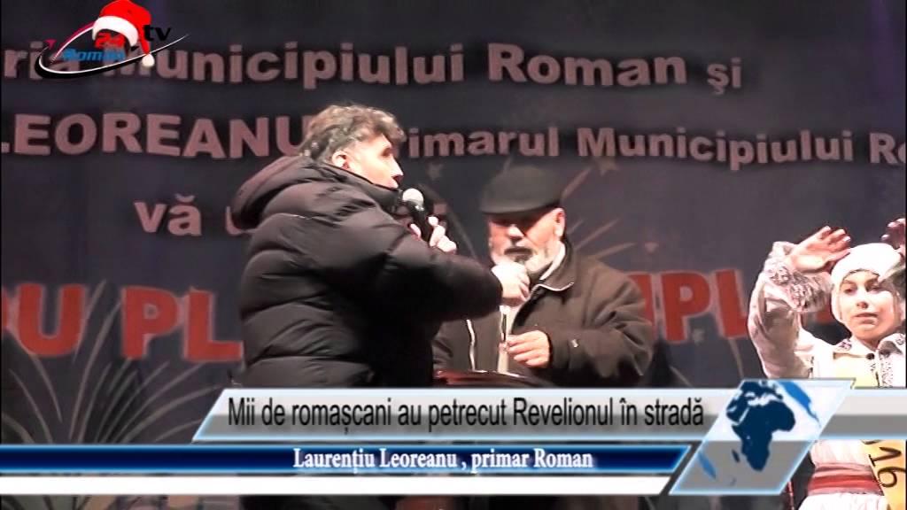 Mii de romașcani au petrecut Revelionul în stradă