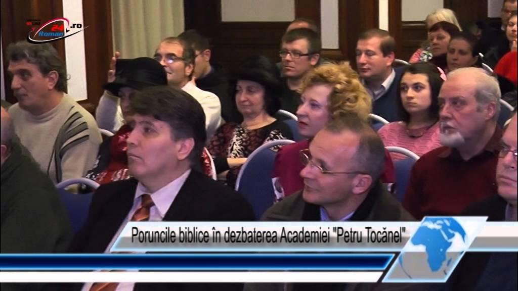 Poruncile biblice în dezbaterea Academiei  Petru Tocănel