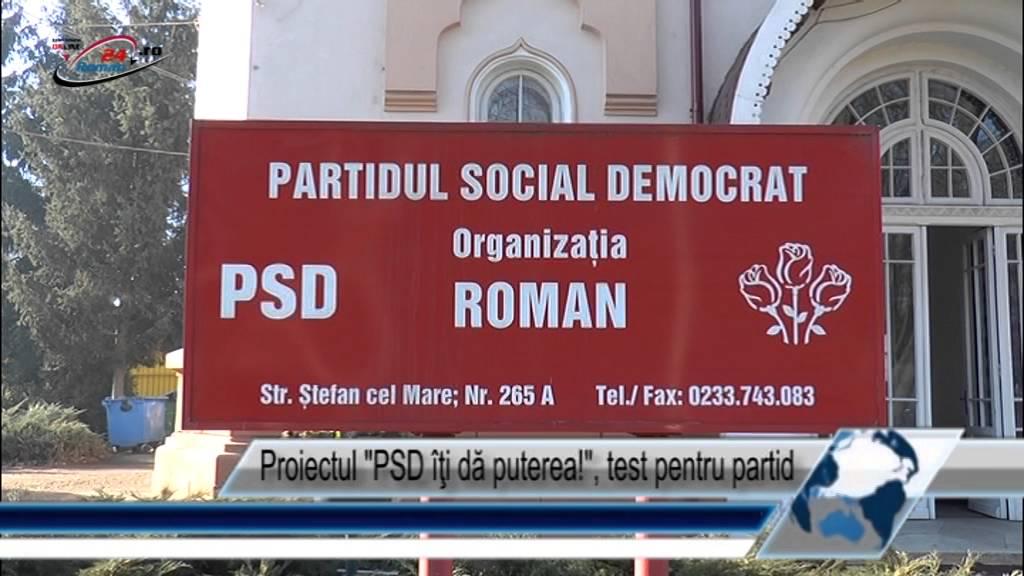 Proiectul PSD îţi dă puterea!, test pentru partid