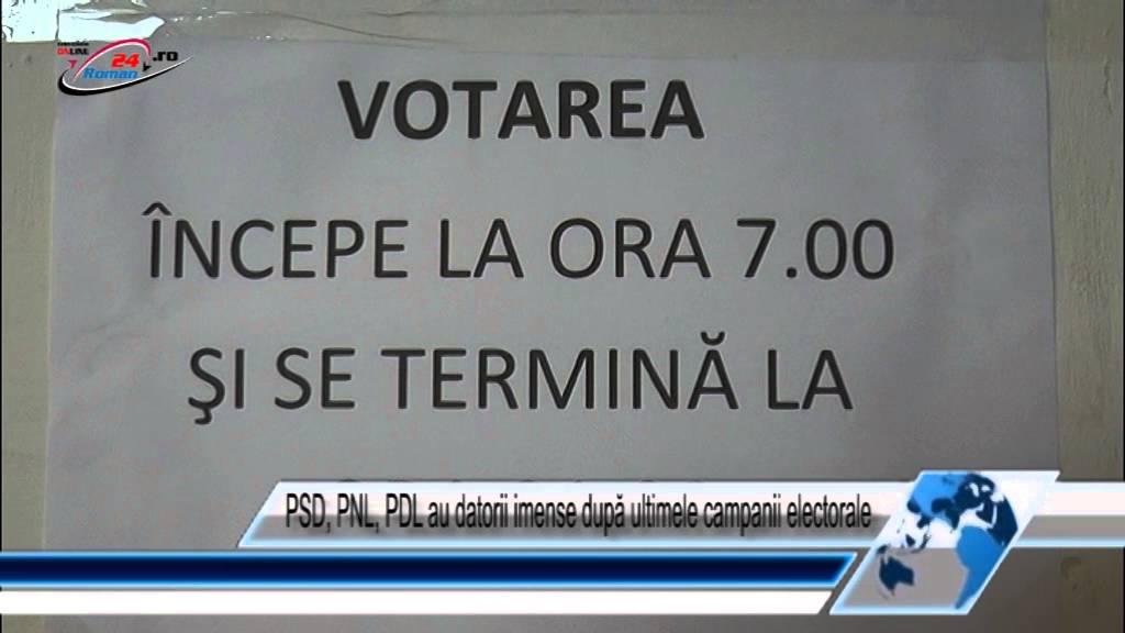 PSD, PNL, PDL au datorii imense după ultimele campanii electorale
