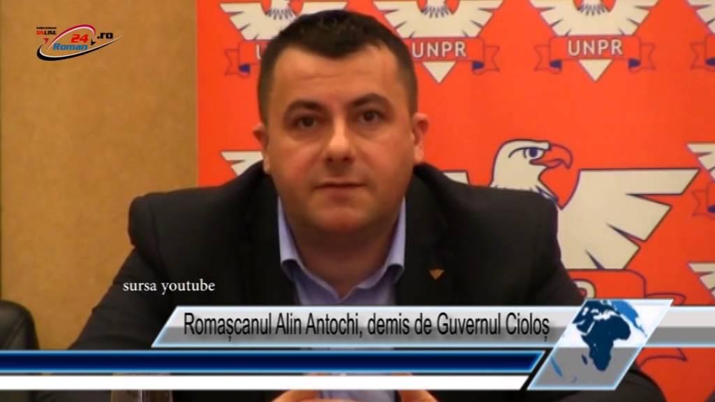 Romașcanul Alin Antochi, demis de Guvernul Cioloș
