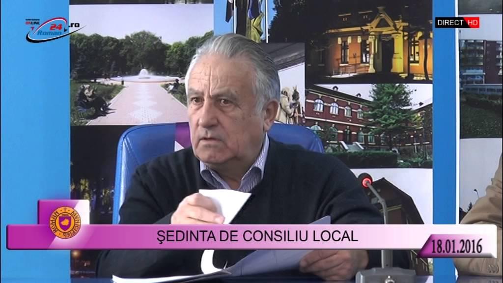 Şedinţă de îndată a Consiliului Local – 18.01.2016