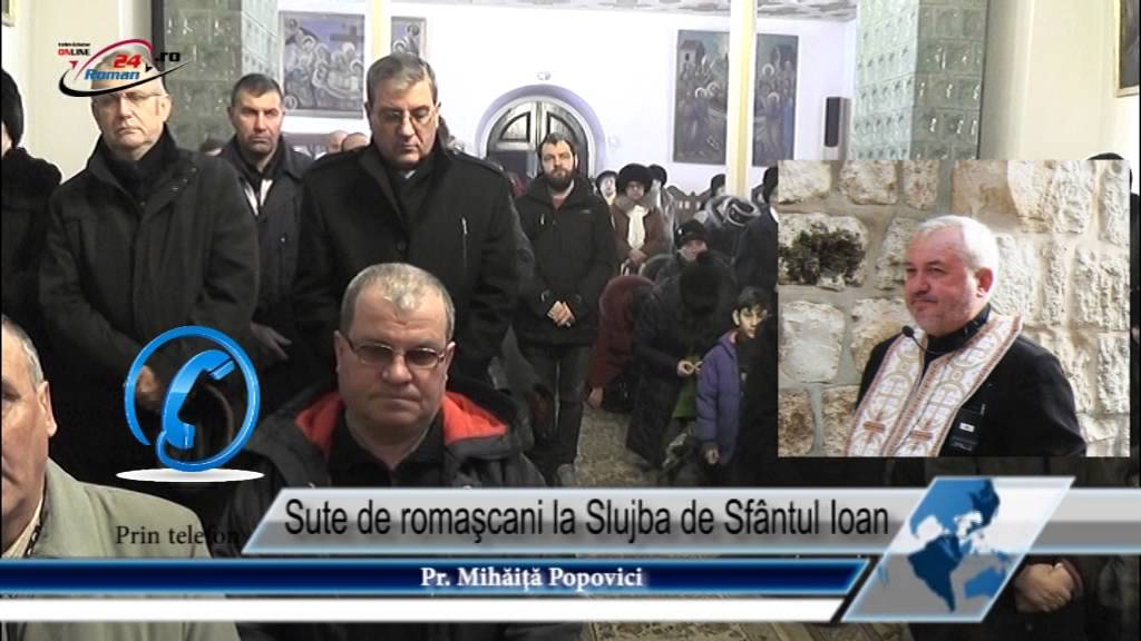 Sute de romaşcani la Slujba de Sfântul Ioan