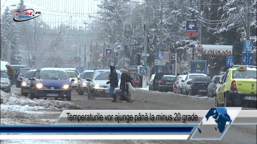 Temperaturile vor ajunge până la minus 20 grade