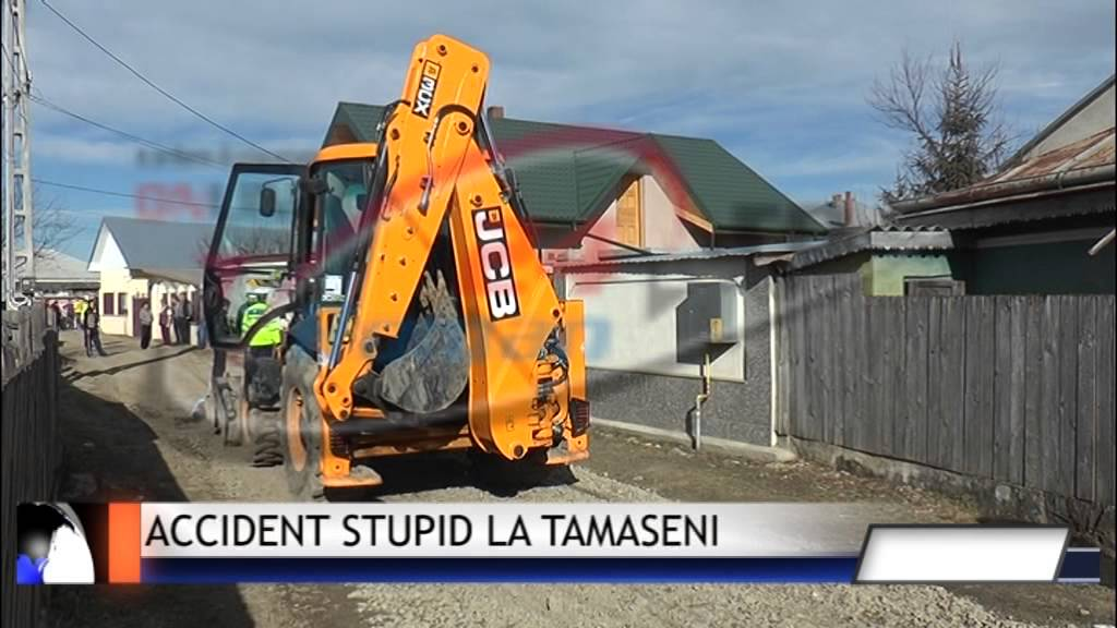 Accident stupid la Tamaseni