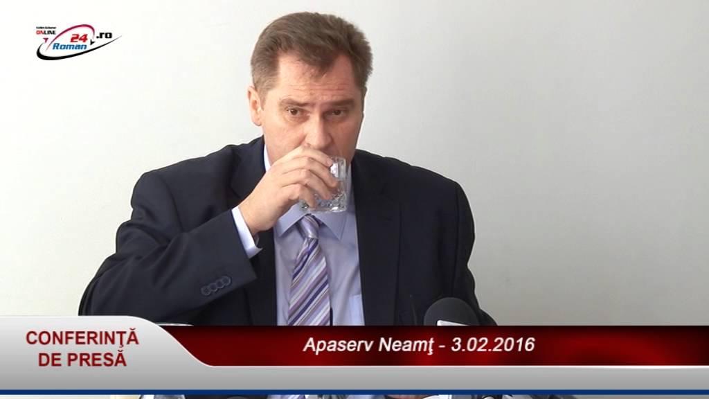 Conferinţă de presă Apaserv Neamţ – 3.02.2016