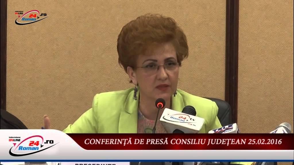 CONFERINŢĂ DE PRESĂ CONSILIU JUDEŢEAN 25.02.2016