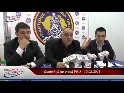Conferinţă de presă PRU – 10.02.2016