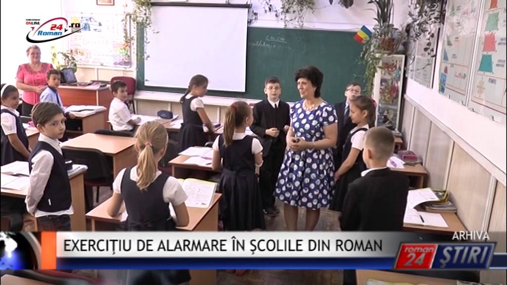 EXERCIŢIU DE ALARMARE ÎN ŞCOLILE DIN ROMAN