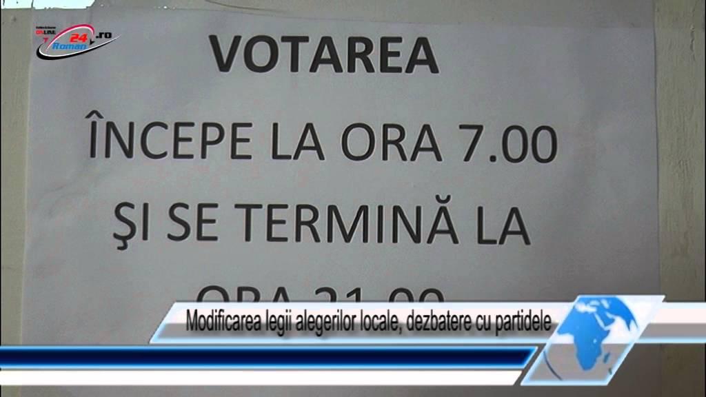 Modificarea legii alegerilor locale, dezbatere cu partidele