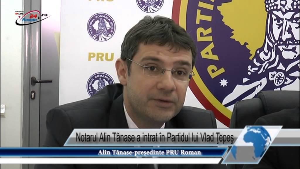 Notarul Alin Tănase a intrat în Partidul lui Vlad Ţepeş