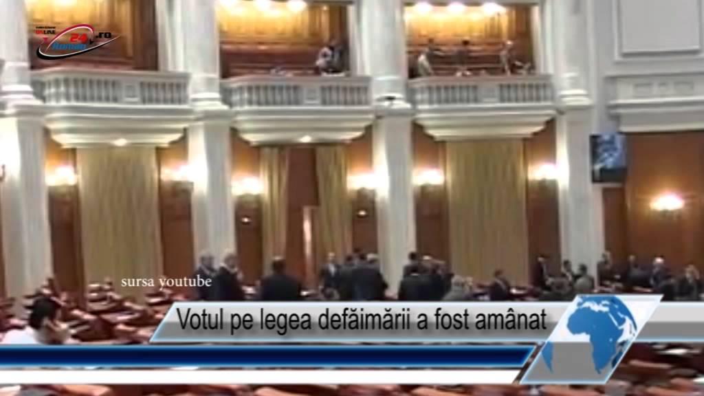 Votul pe legea defăimării a fost amânat