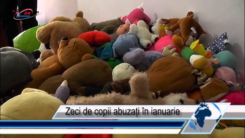 Zeci de copii abuzați în ianuarie