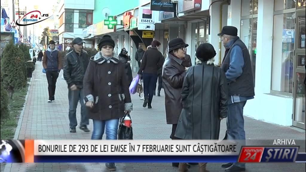 BONURILE DE 293 DE LEI EMISE ÎN 7 FEBRUARIE SUNT CÂŞTIGĂTOARE