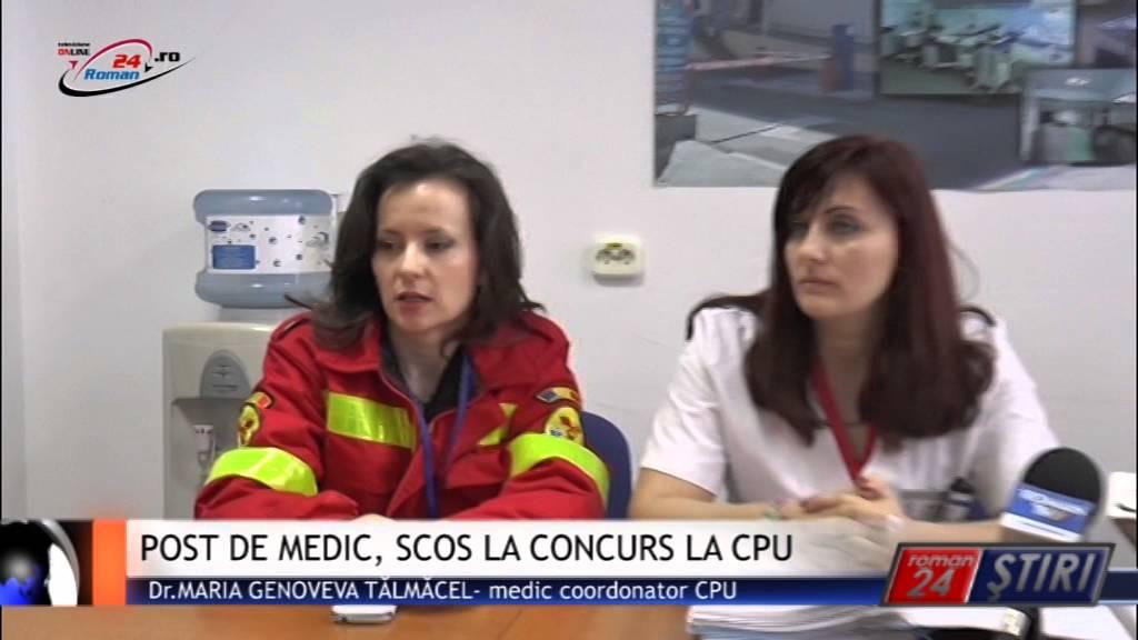 POST DE MEDIC, SCOS LA CONCURS LA CPU