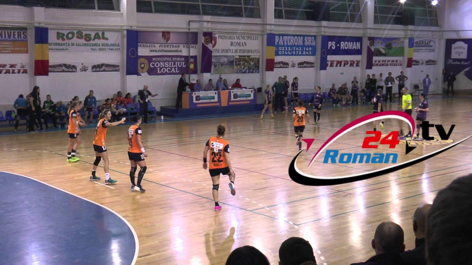 Ultimul minut din meciul de handbal Hcm Roman – Csm Bucuresti