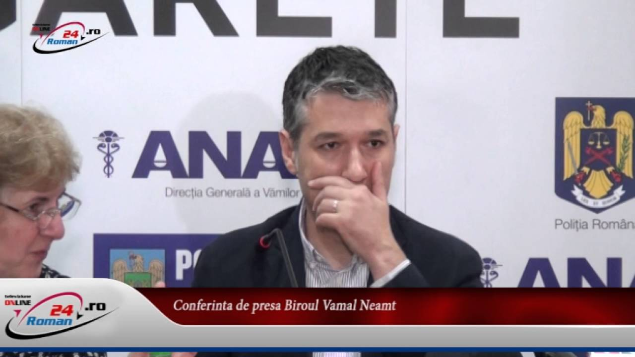Conferinta de presa Biroul Vamal Neamt