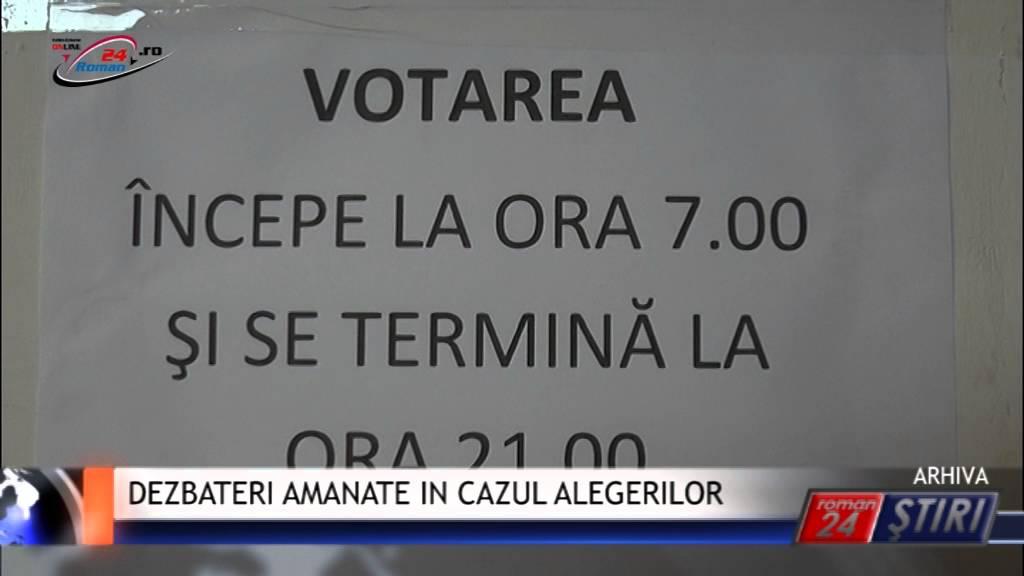 DEZBATERI AMANATE IN CAZUL ALEGERILOR
