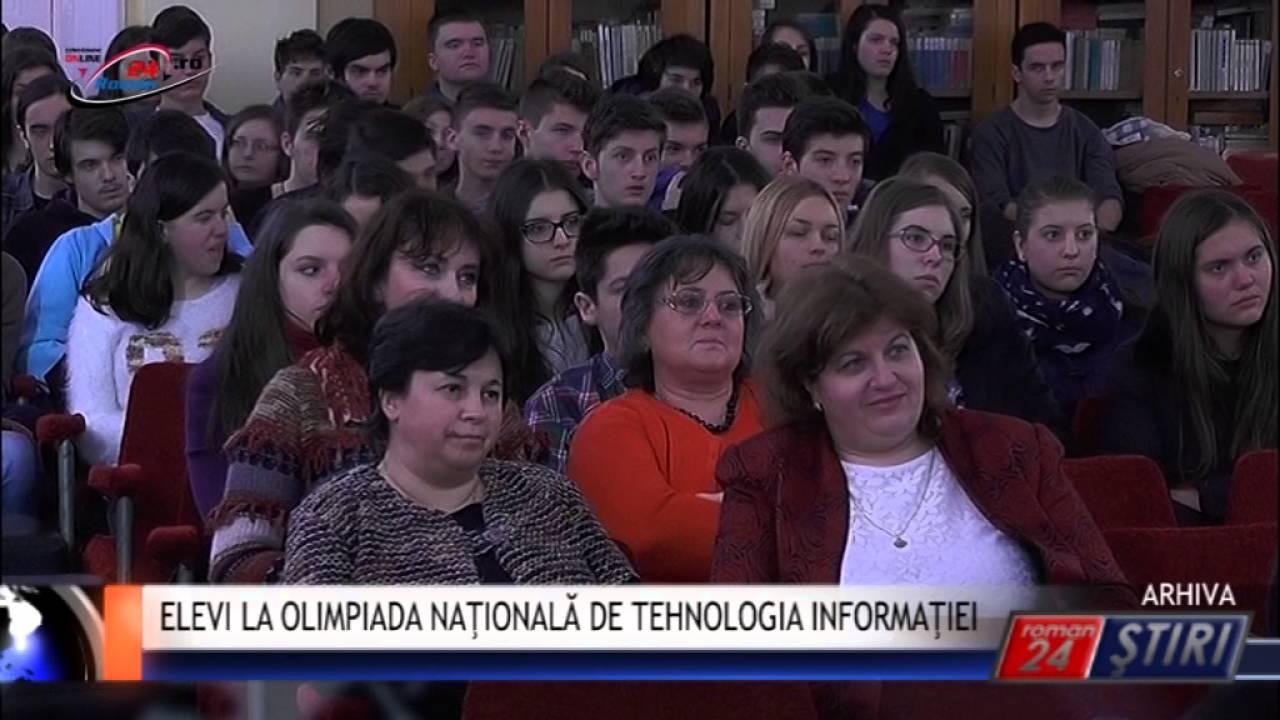 ELEVI LA OLIMPIADA NAŢIONALĂ DE TEHNOLOGIA INFORMAŢIEI