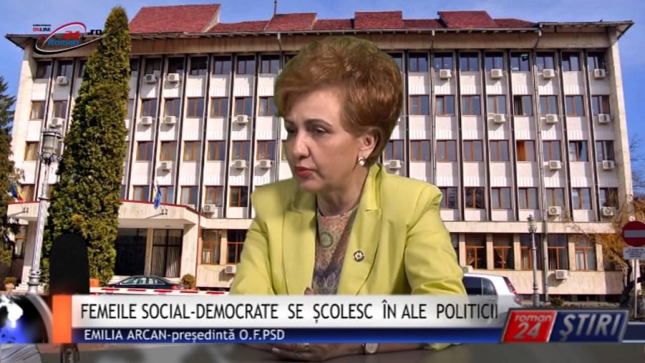FEMEILE SOCIAL‐DEMOCRATE  SE  ȘCOLESC  ÎN ALE  POLITICII