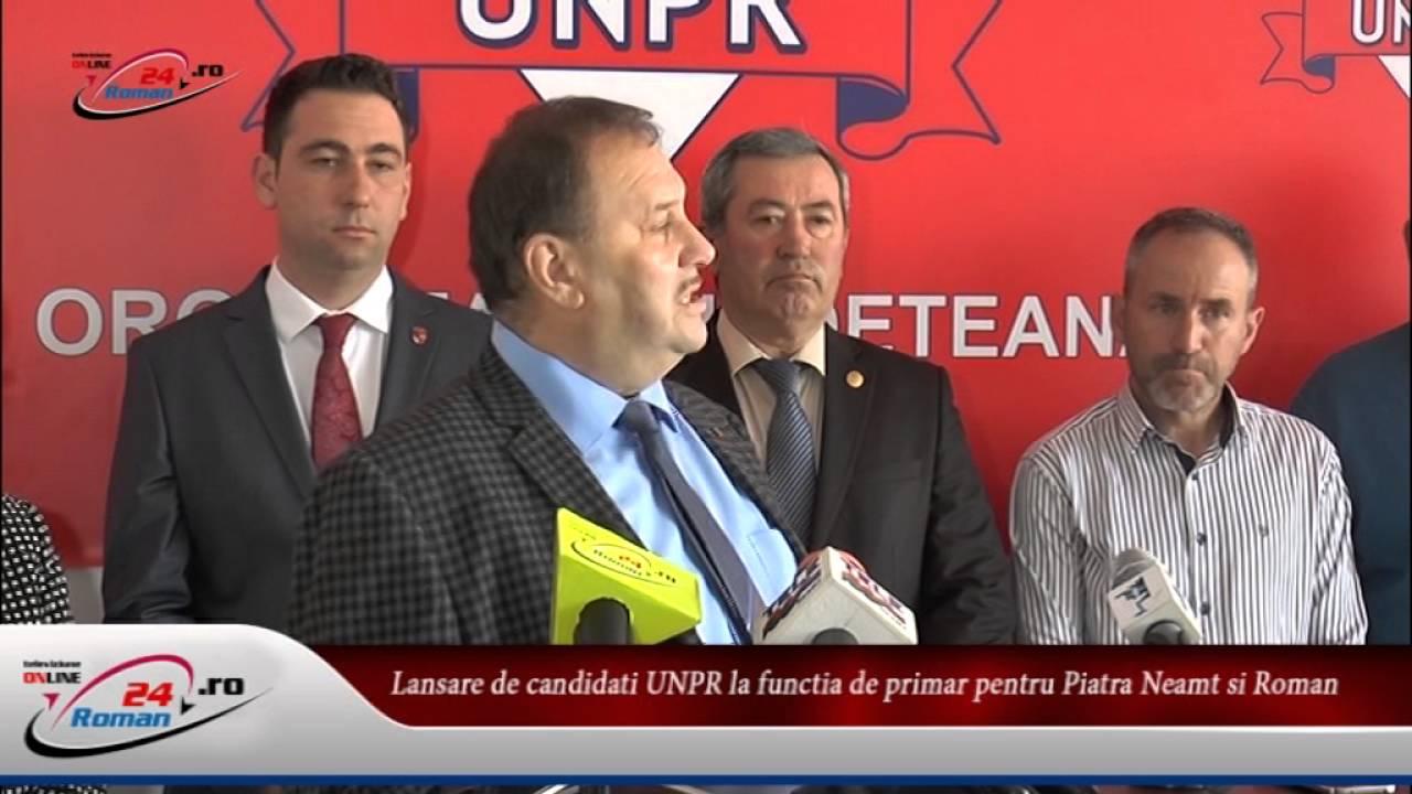 Lansare de candidati UNPR la functia de primar pentru Piatra Neamt si Roman