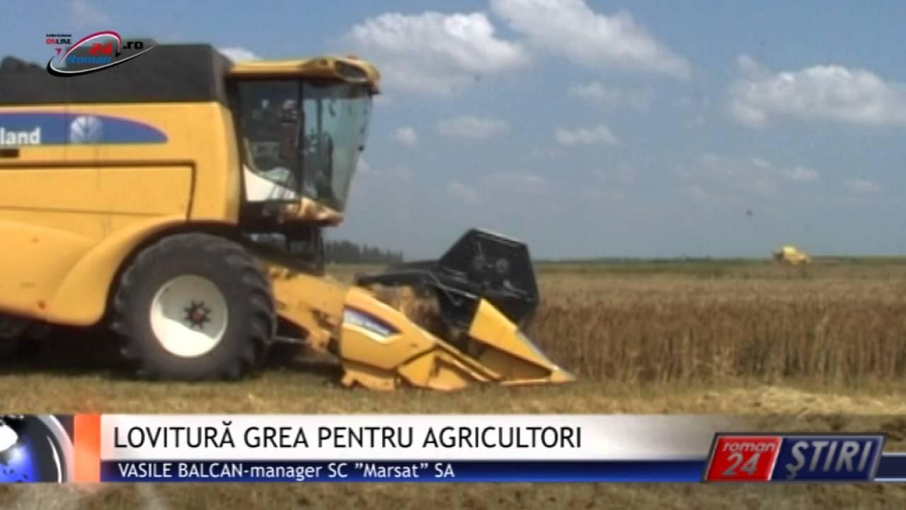 LOVITURĂ GREA PENTRU AGRICULTORI