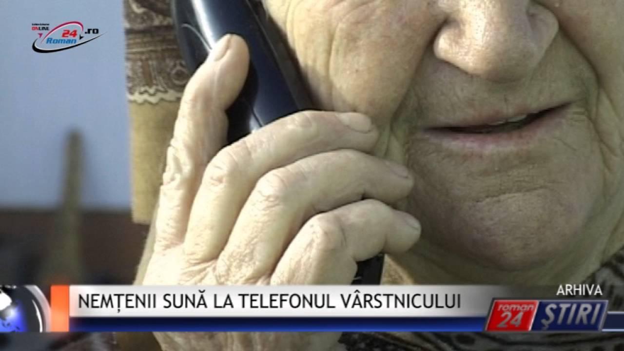 NEMȚENII SUNĂ LA TELEFONUL VÂRSTNICULUI