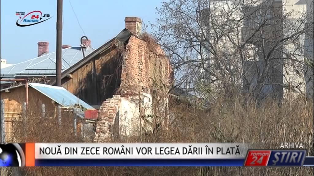 NOUĂ DIN ZECE ROMÂNI VOR LEGEA DĂRII ÎN PLATĂ