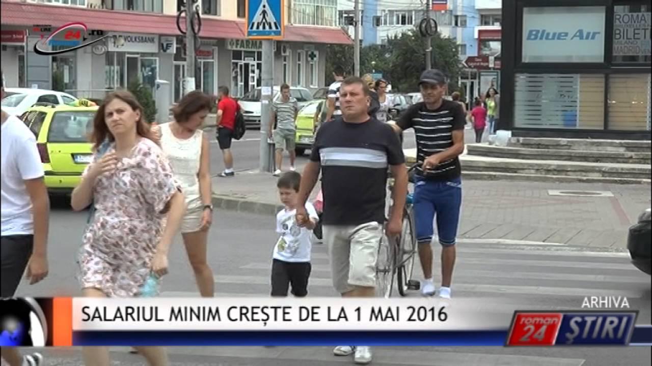 SALARIUL MINIM CREȘTE DE LA 1 MAI 2016