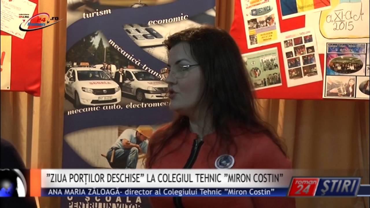 """ZIUA PORȚILOR DESCHISE"" LA COLEGIUL TEHNIC ""MIRON COSTIN"""