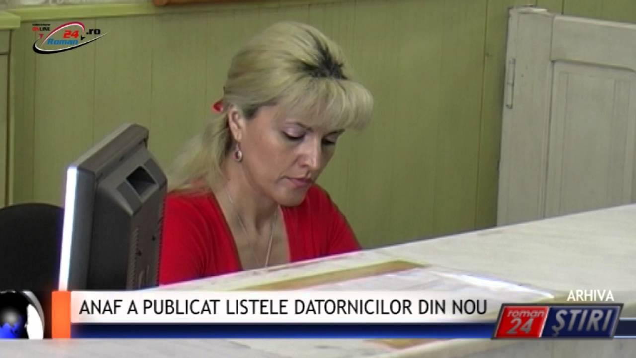 ANAF A PUBLICAT LISTELE DATORNICILOR DIN NOU