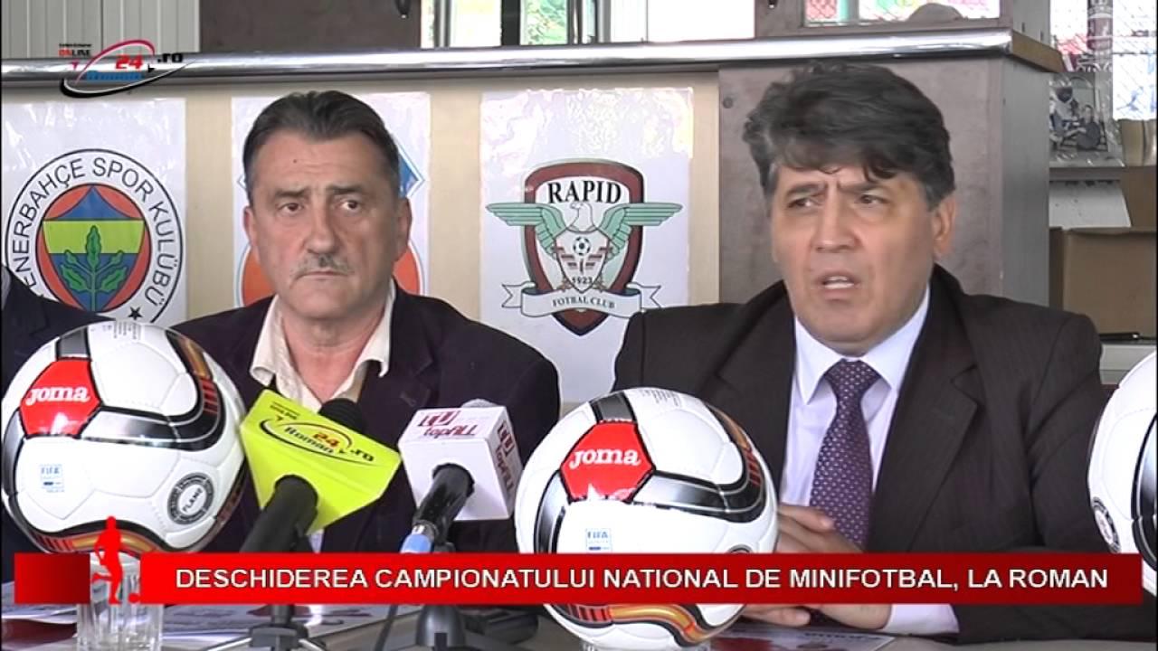 DESCHIDEREA CAMPIONATULUI NATIONAL DE MINIFOTBAL, LA ROMAN