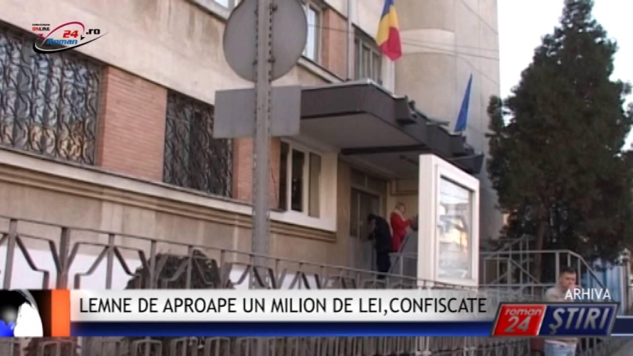 LEMNE DE APROAPE UN MILION DE LEI, CONFISCATE