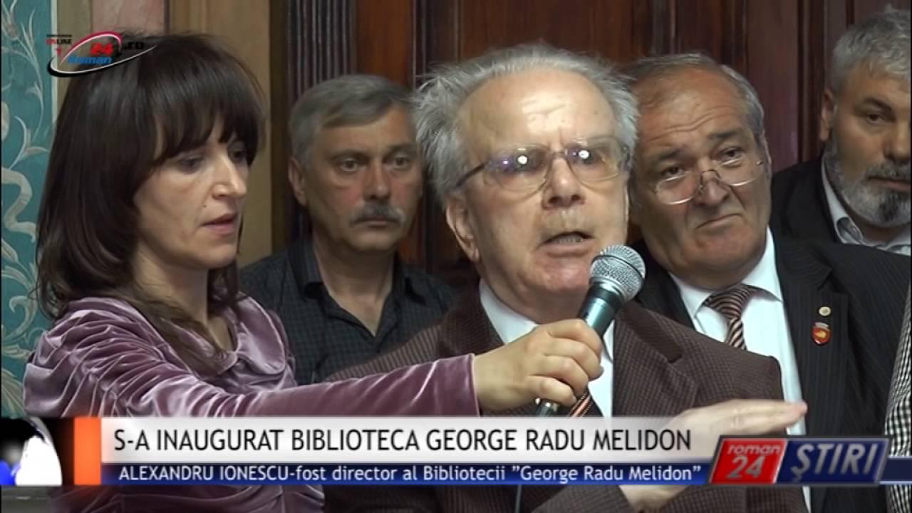 S-A INAUGURAT BIBLIOTECA GEORGE RADU MELIDON