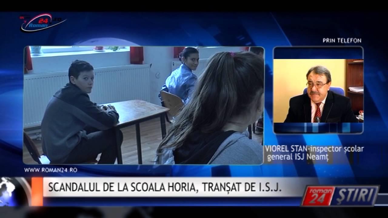 SCANDALUL DE LA SCOALA HORIA, TRANȘAT DE I.S.J.