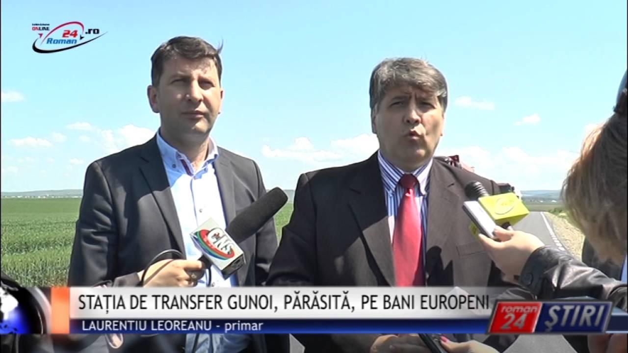 STAȚIA DE TRANSFER GUNOI, PĂRĂSITĂ, PE BANI EUROPENI