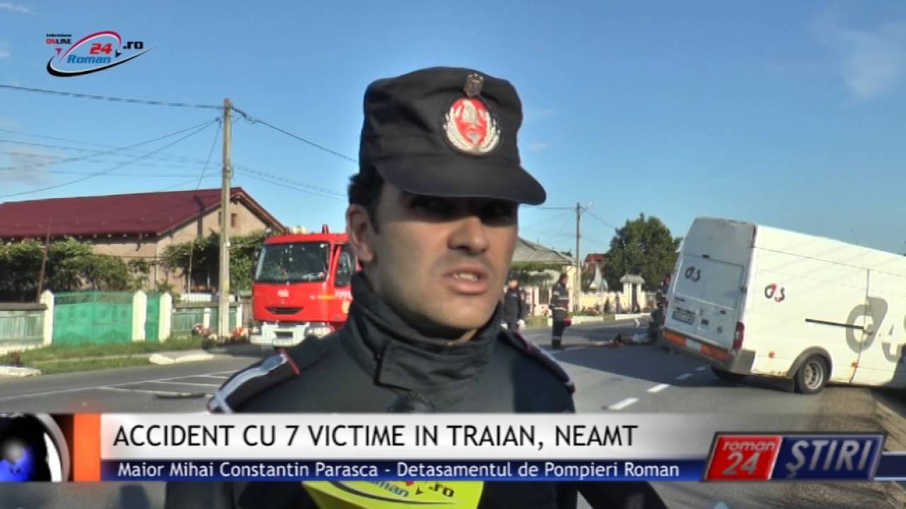 ACCIDENT CU 7 VICTIME IN TRAIAN, NEAMT