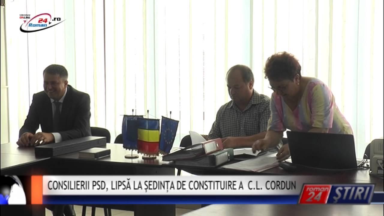 CONSILIERII PSD, LIPSĂ LA ȘEDINȚA DE CONSTITUIRE A C.L. CORDUN