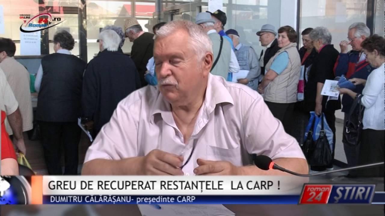 GREU DE RECUPERAT RESTANȚELE LA CARP !