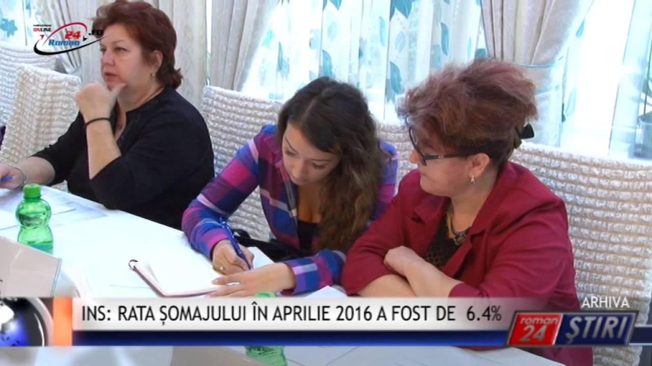 INS- RATA ȘOMAJULUI ÎN APRILIE 2016 A FOST DE 6.4%