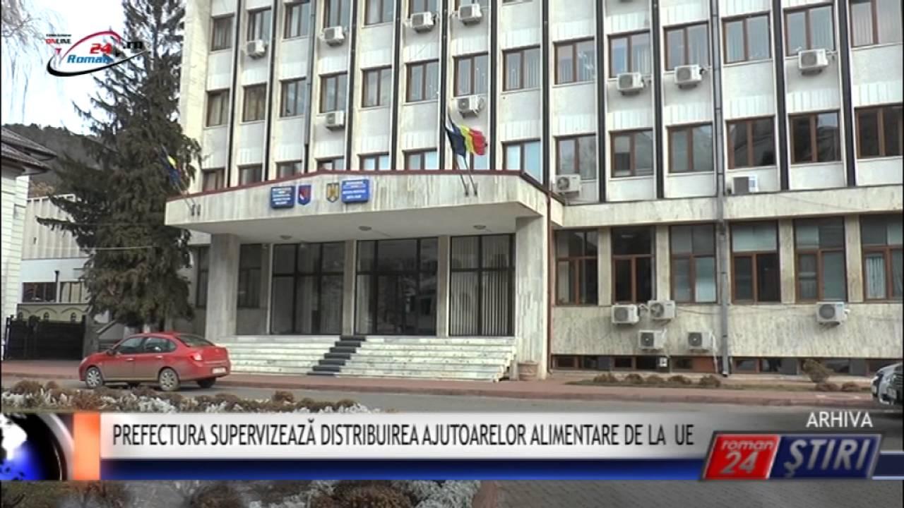 PREFECTURA SUPERVIZEAZĂ DISTRIBUIREA AJUTOARELOR ALIMENTARE DE LA U.E