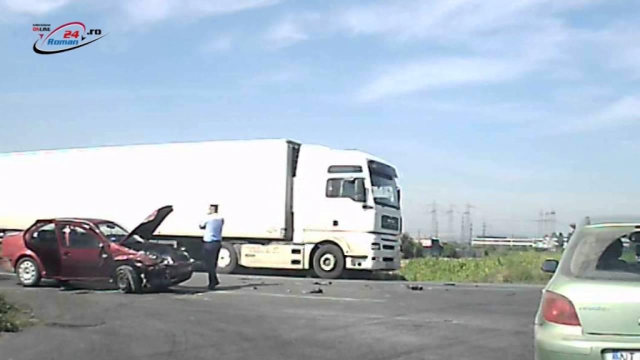 Accident la intersectia E85 cu drumul spre Tamaseni.
