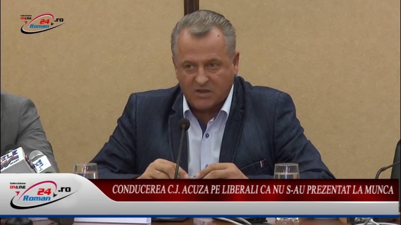 CONDUCEREA C.J. ACUZA LIBERALII CA NU S-AU PREZENTAT LA MUNCA