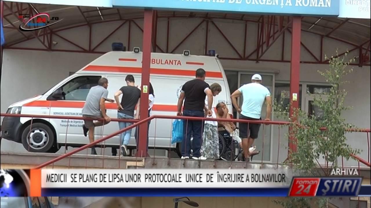 MEDICII SE PLÂNG DE LIPSA UNOR PROTOCOALE UNICE DE ÎNGRIJIRE A BOLNAVILOR