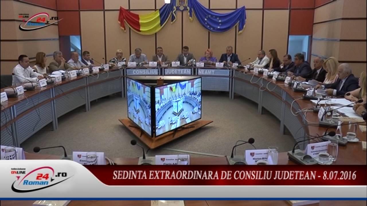 SEDINTA EXTRAORDINARA DE CONSILIU JUDETEAN – 8.07.2016