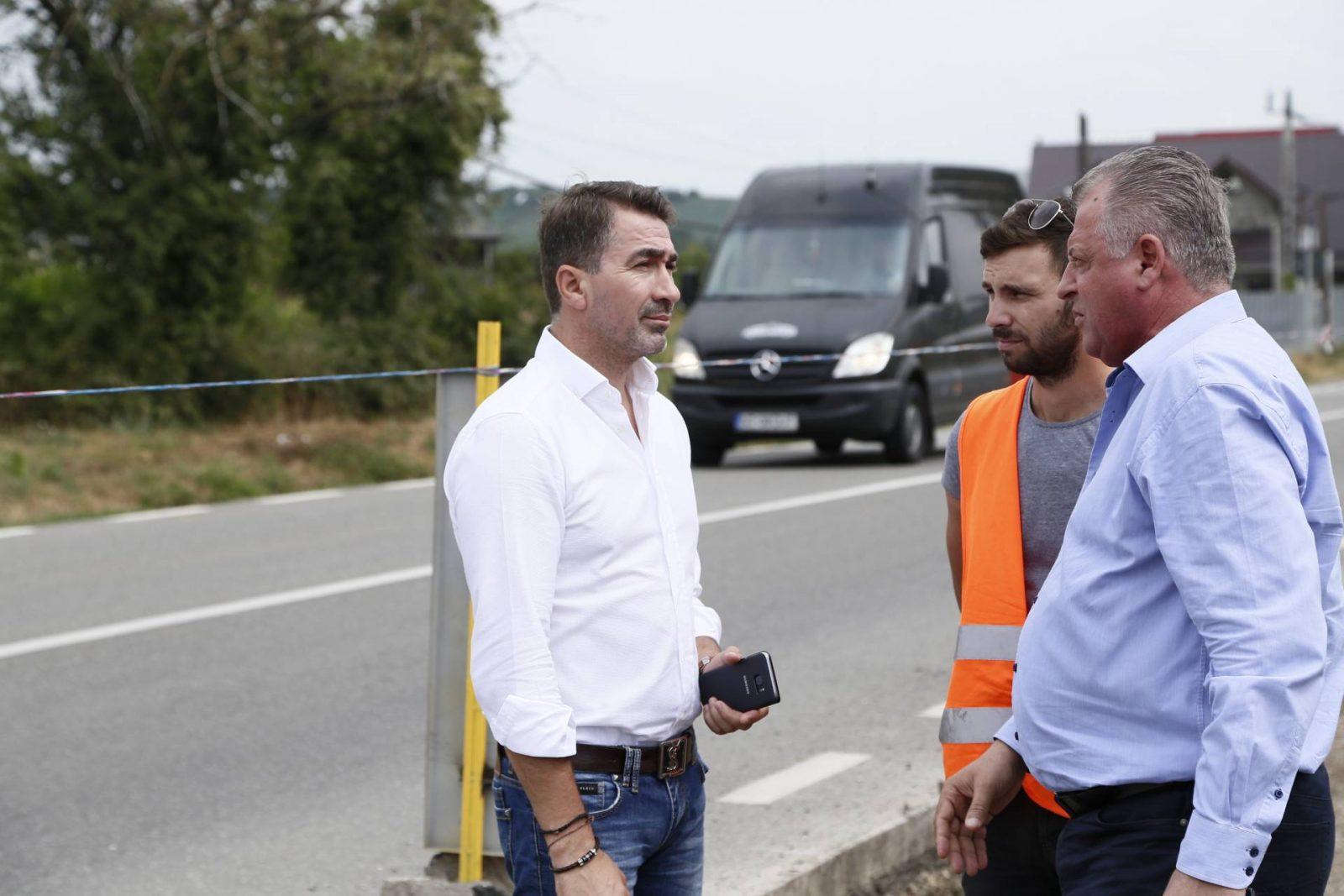 Vizita de lucru in teren a presedintelui CJ Neamt, Ionel Arsene