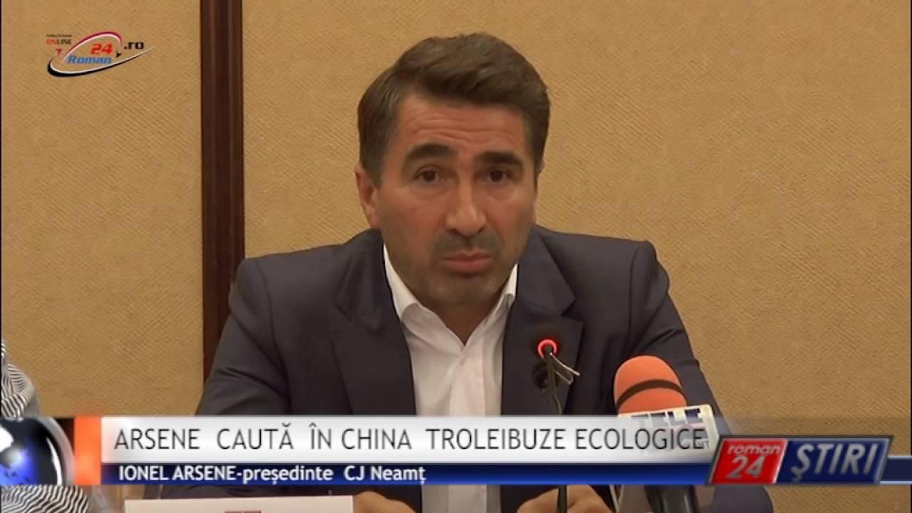 ARSENE CAUTĂ ÎN CHINA TROLEIBUZE ECOLOGICE