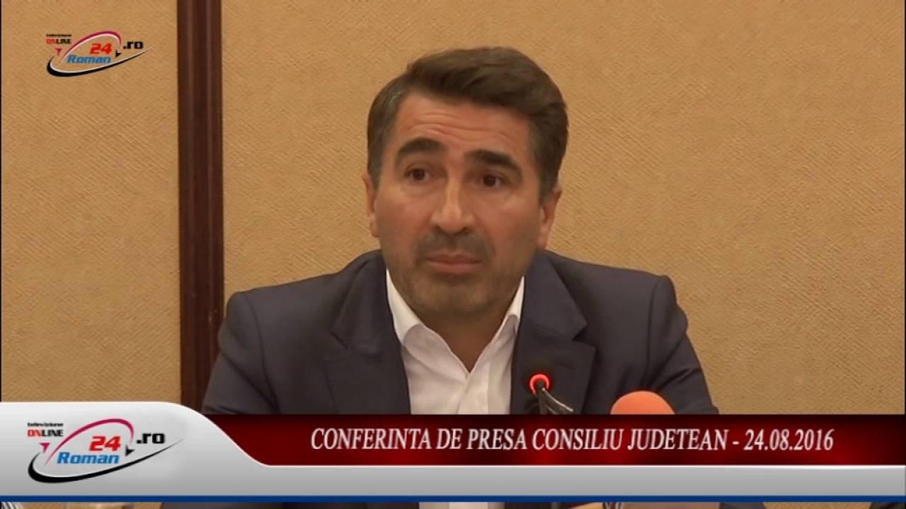 CONFERINTA DE PRESA CONSILIU JUDETEAN -24.08.2016