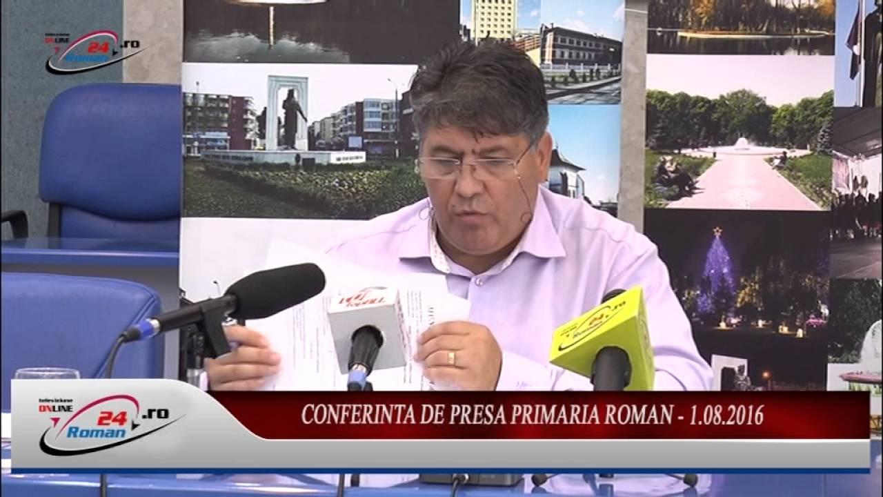 CONFERINTA DE PRESA PRIMARIA ROMAN – 1.08.2016