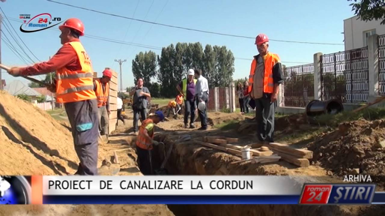 PROIECT DE CANALIZARE LA CORDUN